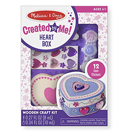 8850 Melissa & Doug Decorate-Your-Own Wooden Heart Box