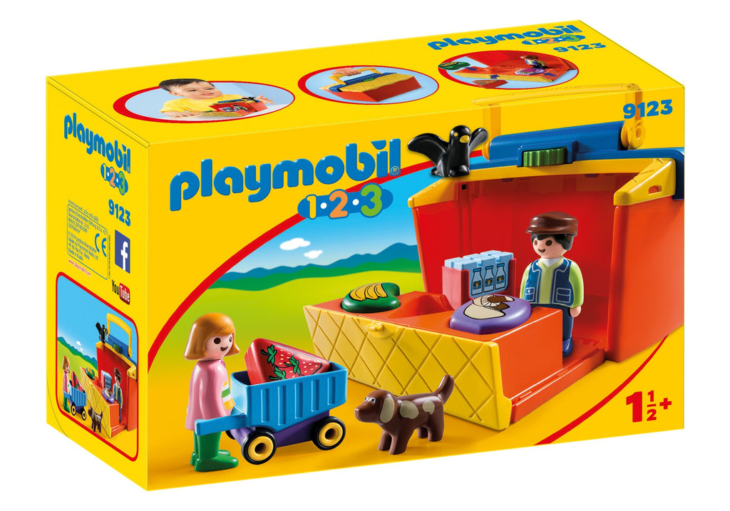 9123 Playmobil 1.2.3. Take Along Market Stall