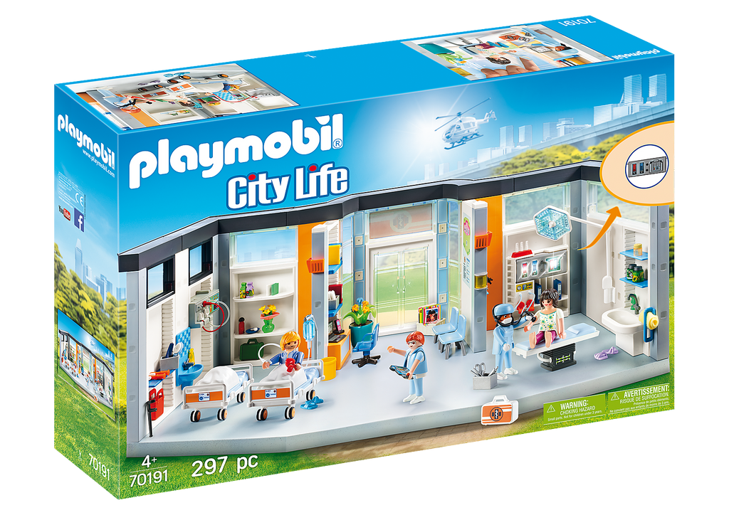 70191 Playmobil Furnished Hospital Wing