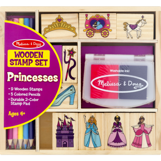 2418 Melissa & Doug Princess Stamp Set