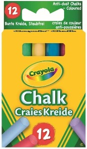 Crayola Coloured Chalk - 12 Piece