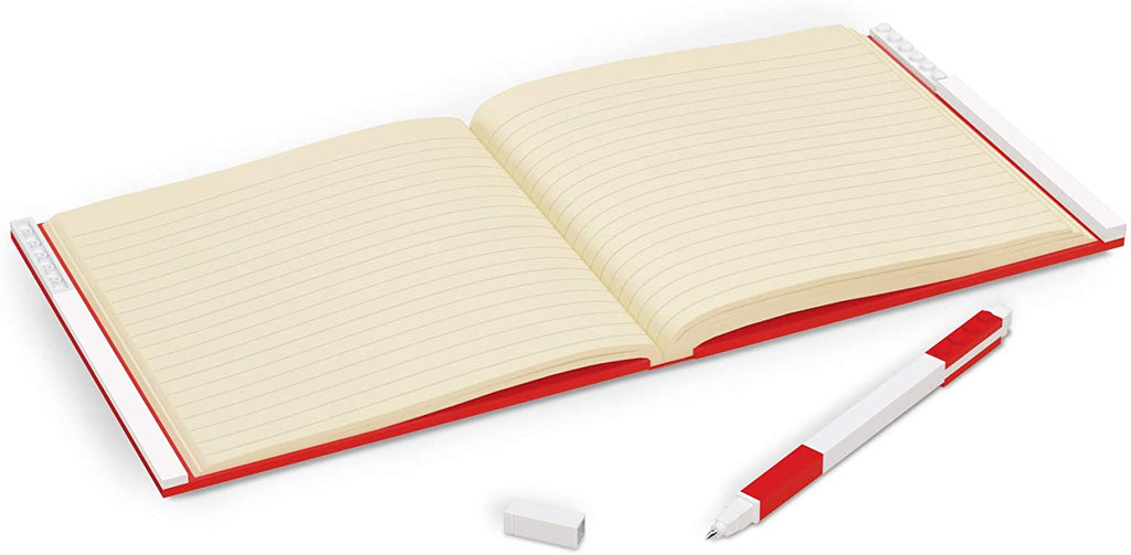 LEGO Locking Notebook with Gel Pen - Red