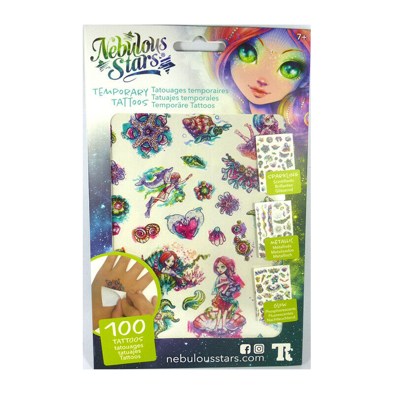 Nebulous Stars Temporary Tattoos - Green