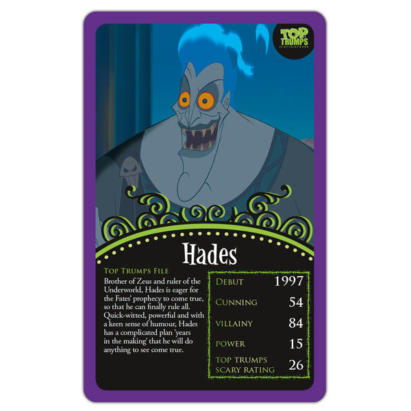 Top Trumps Disney Villains - Just a Touch of Evil