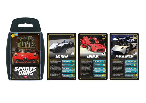 Top Trumps Sports Cars