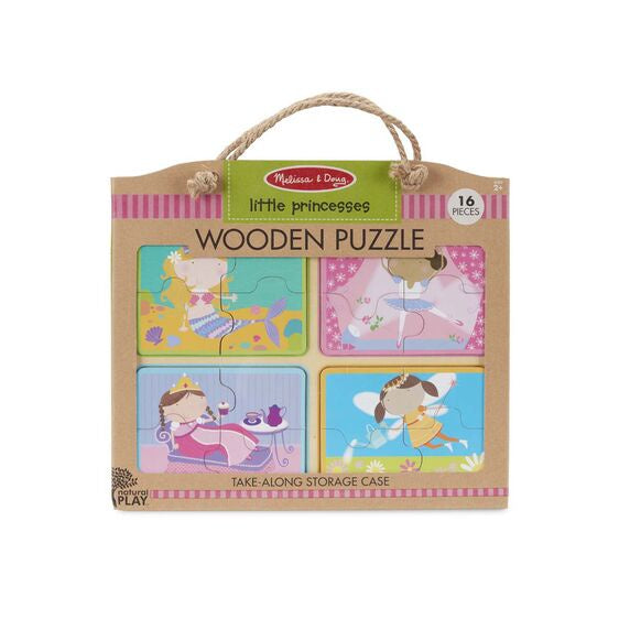 31365 Melissa & Doug Natural Play Wooden Puzzle: Little Princesses