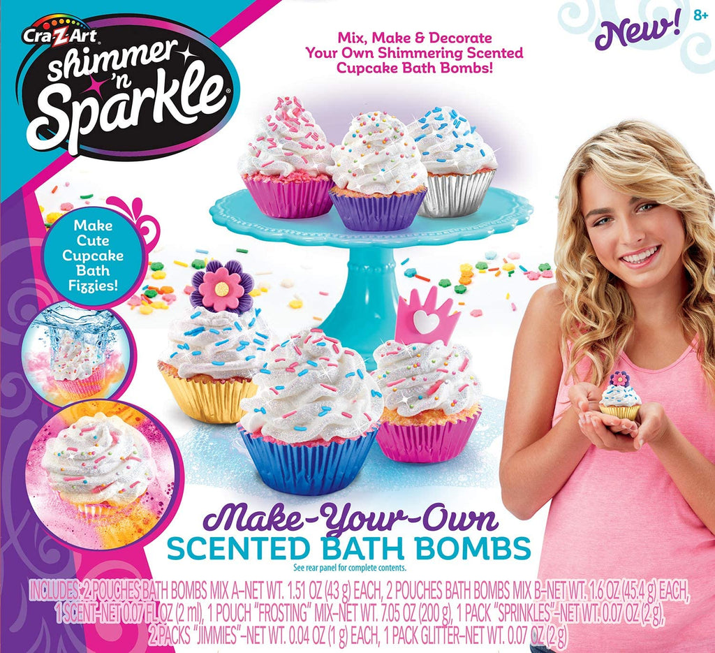 Shimmer 'n Sparkle Make Your Own Cupcake Bath Bombs
