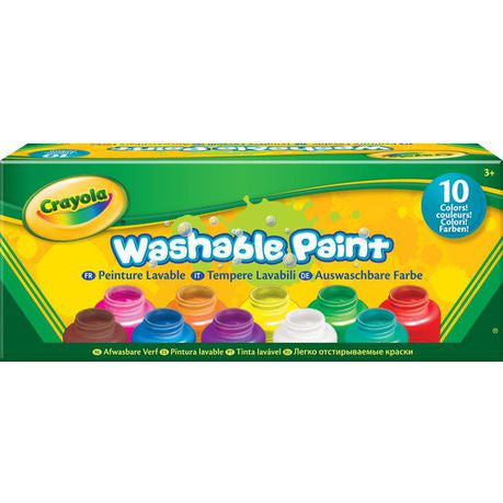 Crayola Washable Paint - 10 Colours