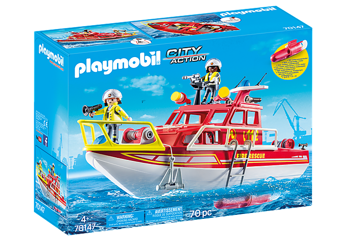 70147 Playmobil Fire Rescue Boat