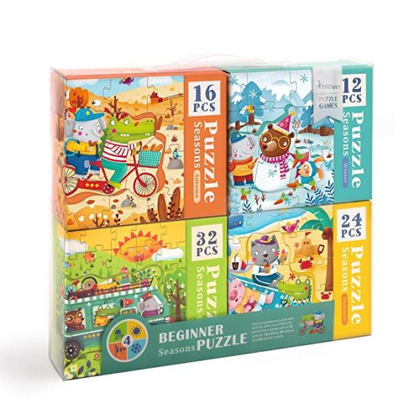 Mideer 4-In-1 Puzzle Seasons (12/16/24/32)