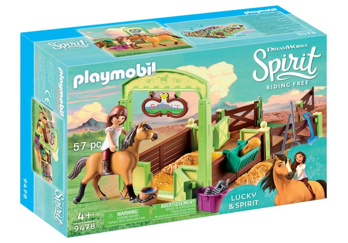 9478 Playmobil Lucky & Spirit with Horse Stall