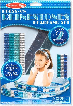 9245 Melissa & Doug Press-On Rhinestones Headband Set