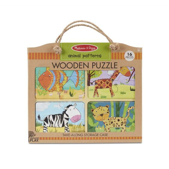 31362 Melissa & Doug Natural Play Wooden Puzzle: Animal Patterns
