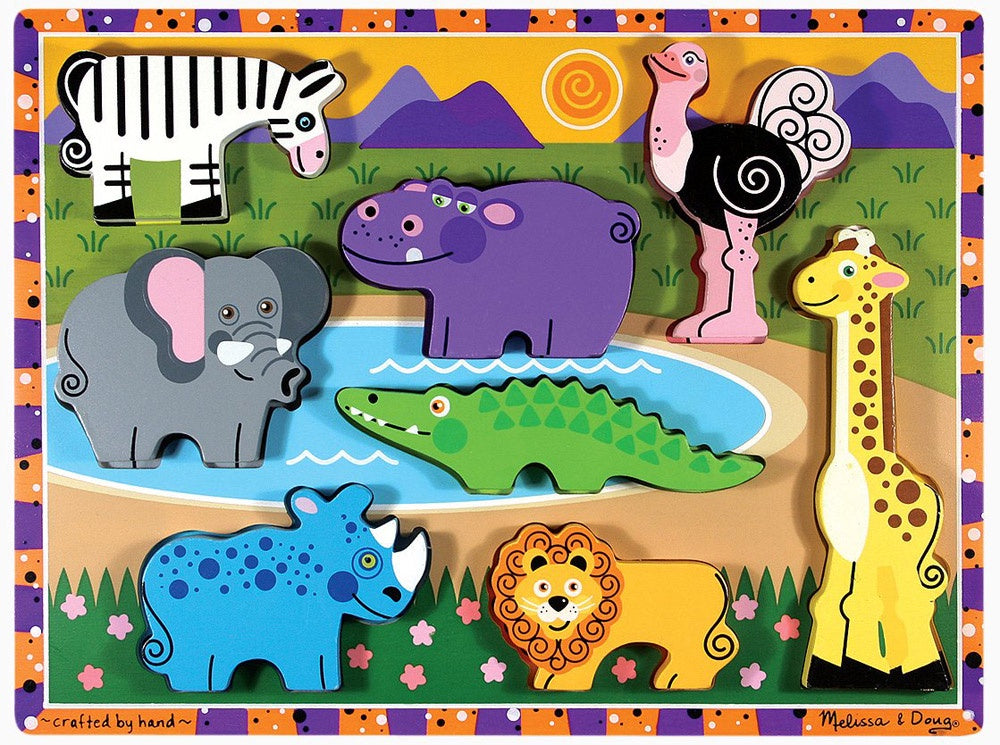 3722 Melissa & Doug Chunky Puzzle Safari Animals