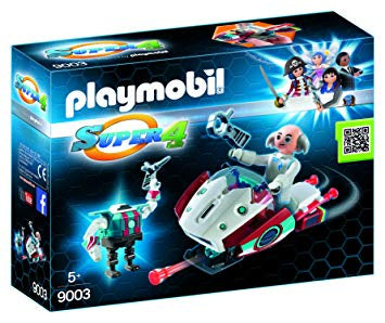 9003 Playmobil Super 4 Skyjet with Dr. X & Robot