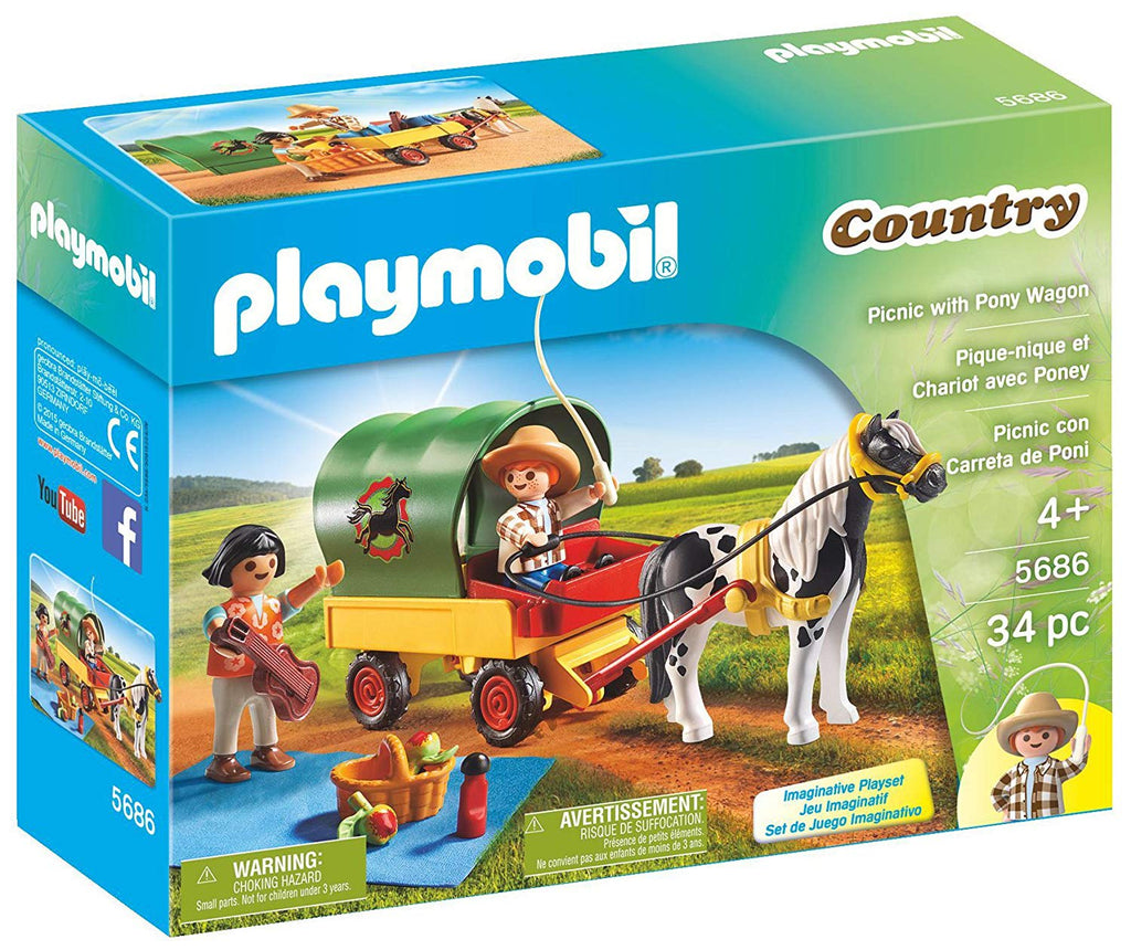6948 Playmobil Picnic with Pony Wagon