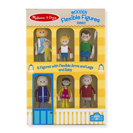 2470 Melissa & Doug Wooden Flexible Figures