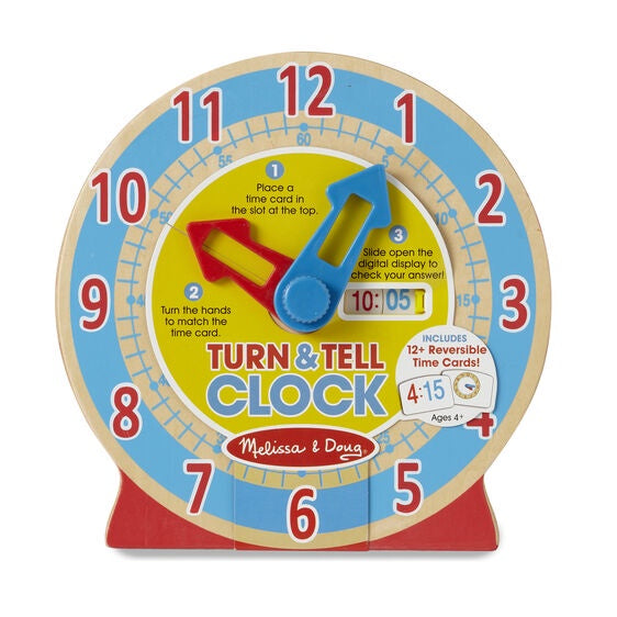 4284 Melissa & Doug Turn & Tell Wooden Clock