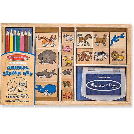 3798 Melissa & Doug Animal Stamp Set