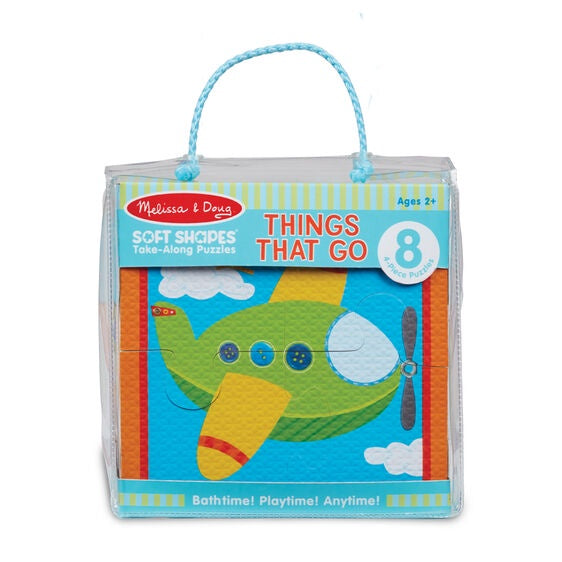 31391 Melissa & Doug Soft Shapes Take-Along Puzzles - Things That Go