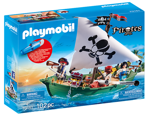 70151 Playmobil Pirate Ship with Underwater Motor