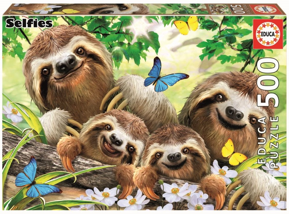 Educa Sloth Family Selfie 500 Piece Puzzle