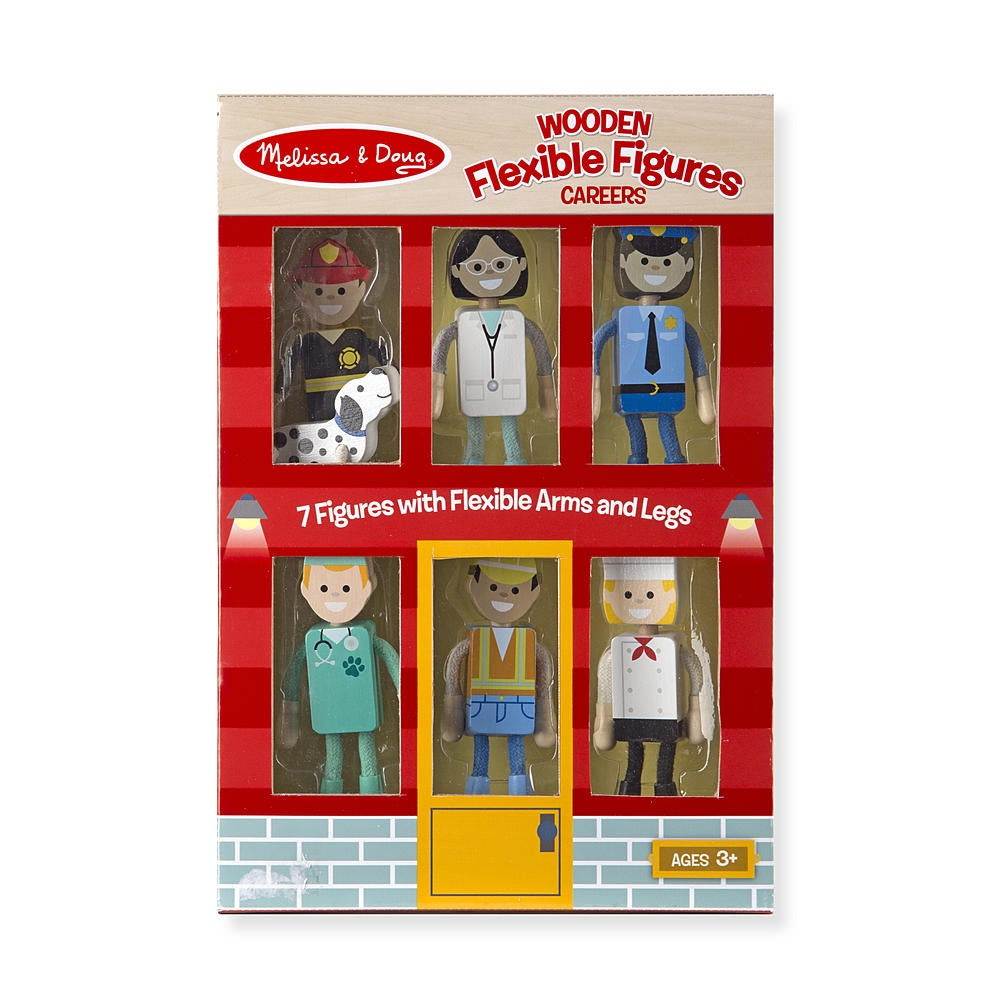 2474 Melissa & Doug Wooden Flexible Figures- Careers