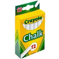 Crayola White Chalk - 12 Piece