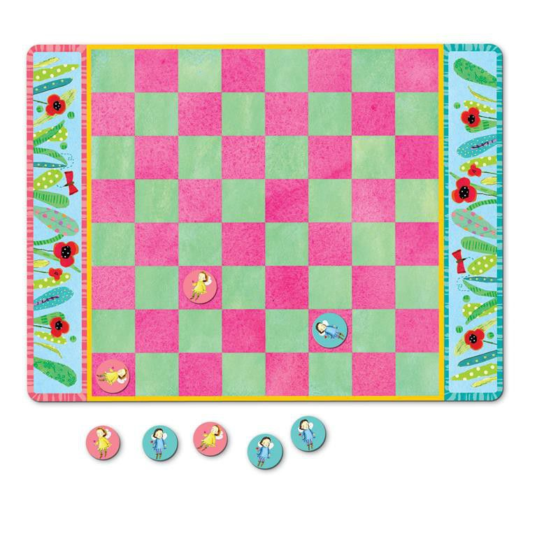 eeBoo Fairy Checkers Magnetic Board Game