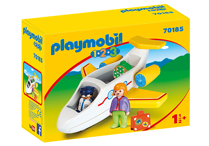 70185 Playmobil 1.2.3. Plane with Passenger