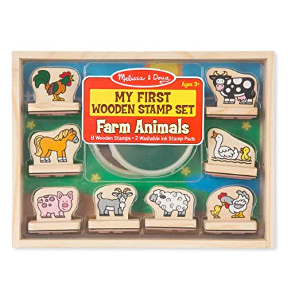 2390 Melissa & Doug My First Wooden Stamp Set - Farm Animals
