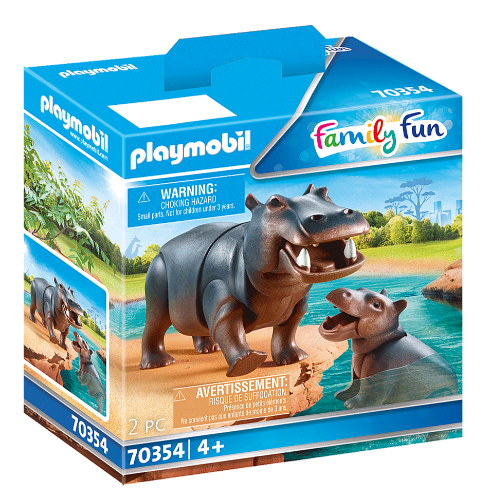70354 Playmobil Hippo with Calf