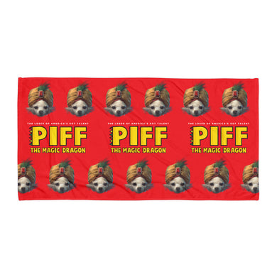 RED MR. PIFFLES BEACH TOWEL