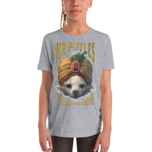 YOUTH SLIM FIT THE DOG WHO KNOWS SHORT SLEEVE T-SHIRT