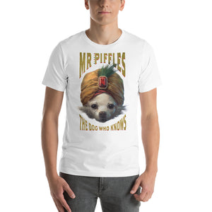 ADULT - THE DOG WHO KNOWS T SHIRT