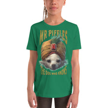 Load image into Gallery viewer, YOUTH SLIM FIT THE DOG WHO KNOWS SHORT SLEEVE T-SHIRT