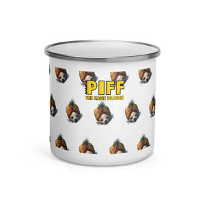 MR. PIFFLES KNOWS YOU LIKE ENAMEL MUG