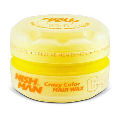 C4 YELLOW 150ML - TEMPORARY COLORING & STYLING HAIR WAX - NISHMAN