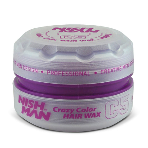 C5 PURPLE 150ML - TEMPORARY COLORING & STYLING HAIR WAX - NISHMAN