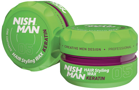 05 KERATIN - HAIR STYLING WAX - NISHMAN