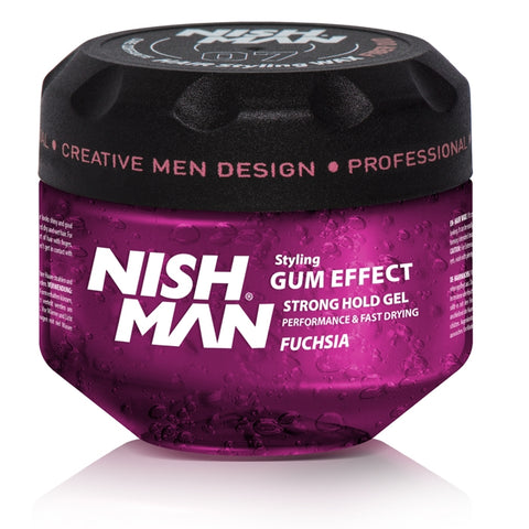 G2 GUM EFFECT HAIR STYLING GEL FUCHSIA 300G - NISHMAN
