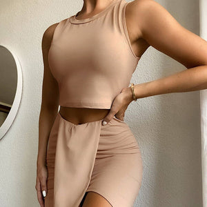 Badge Of Honor Crop And Skirt Set