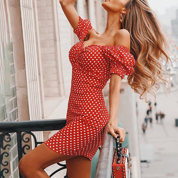 Say Cheers Off Shoulder Dress