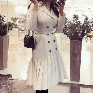 Work It Puff Pleated Blazer Dress