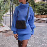 Same Old Story Turtleneck Sweater Dress