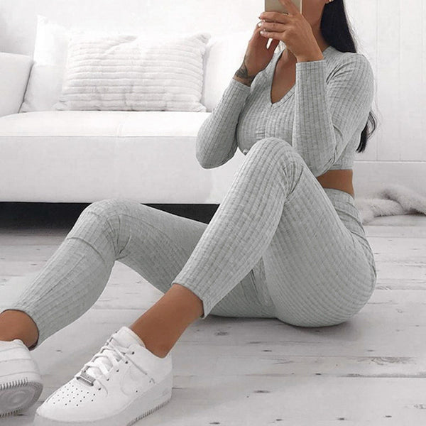 Lazy Sunday Crop And Pants Set
