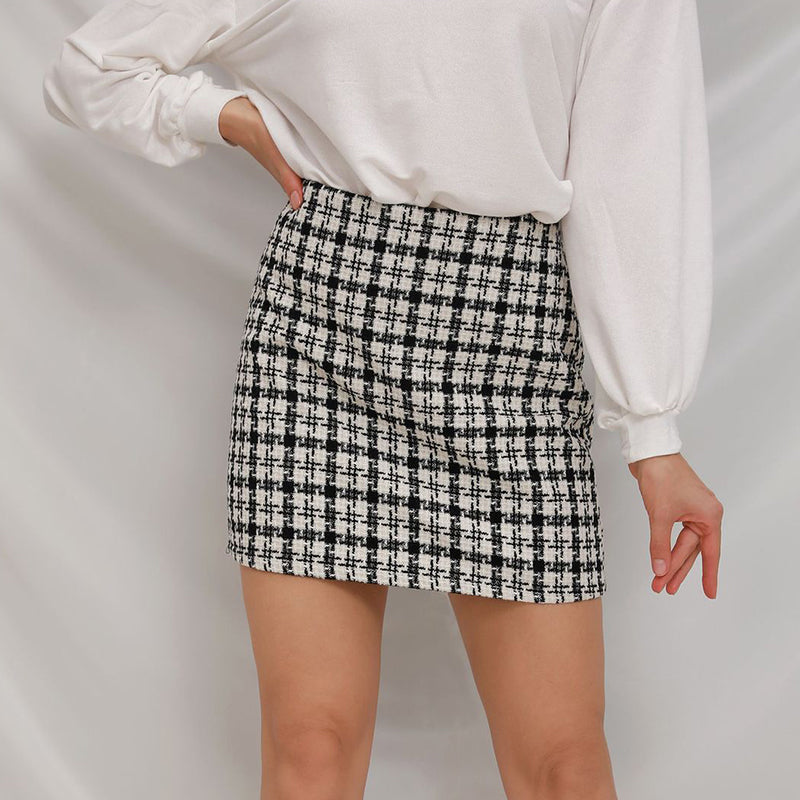 Shooting Star Plaid Skirt