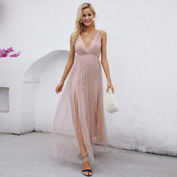Kingdom Keys Backless Maxi Dress