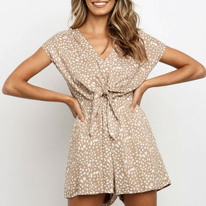 Head Over Heels Tie Waist Romper