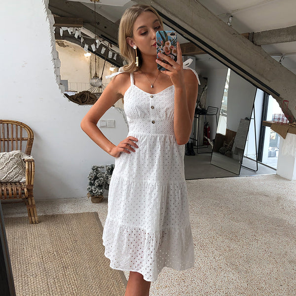 Extra Mile Ruffled Sun Dress